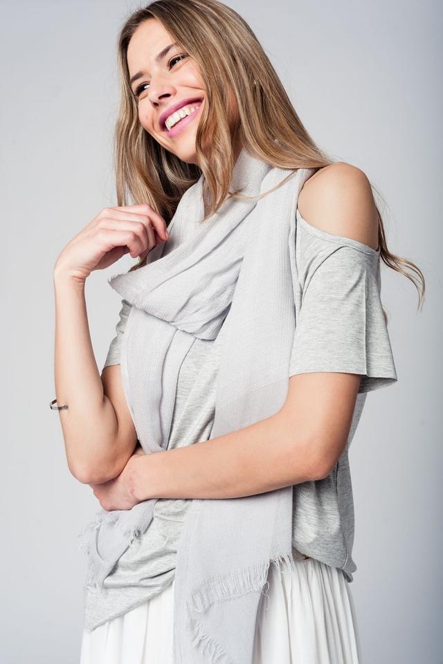 Soft grey lightweight scarf
