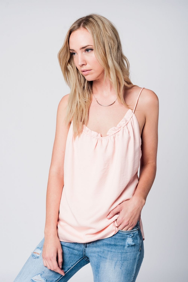 White top with open back detail