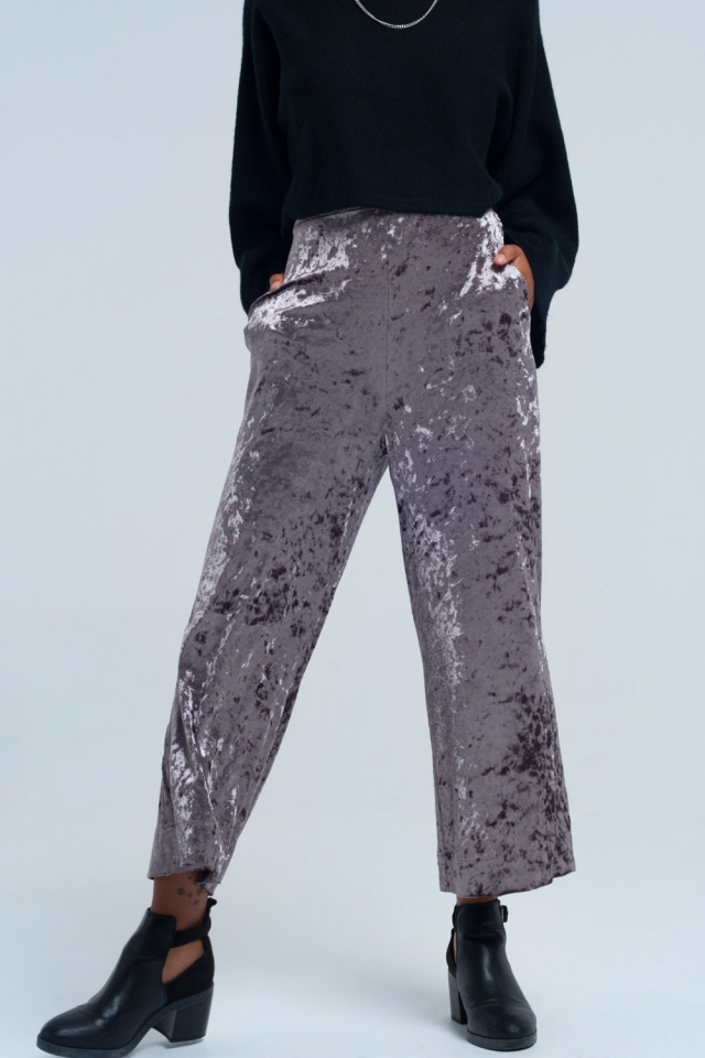Grey metallic pants
