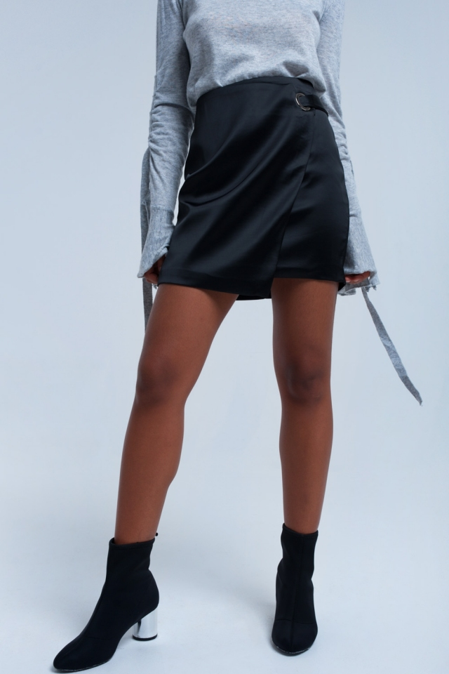 Black skirt with silver buckle