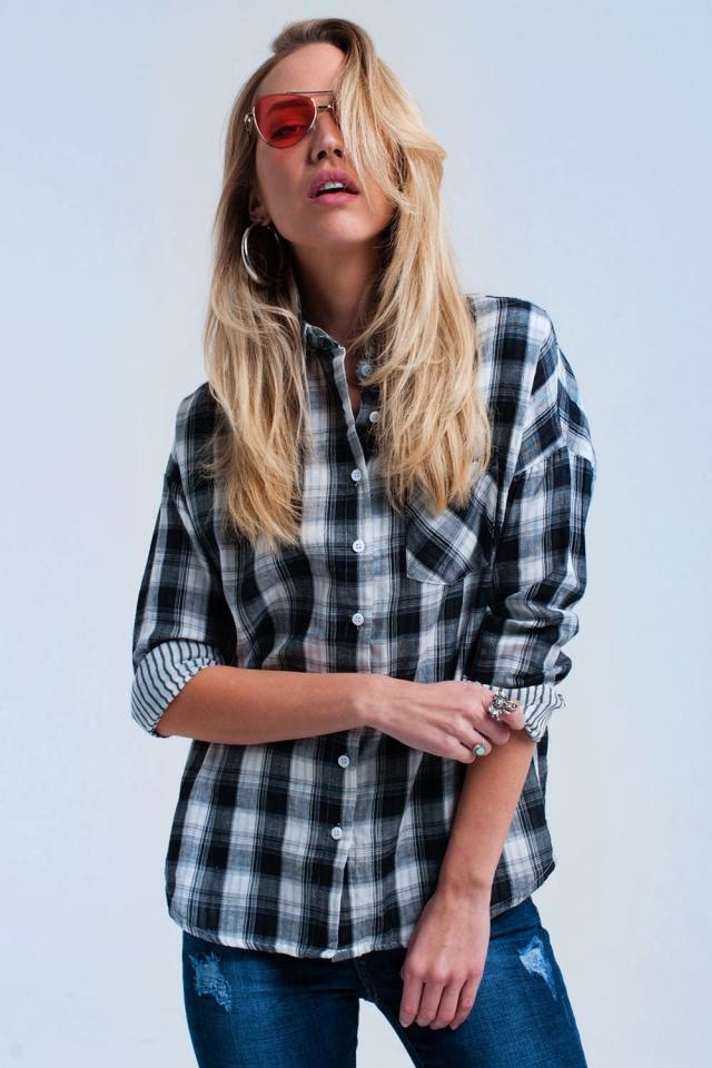 Black checked shirt