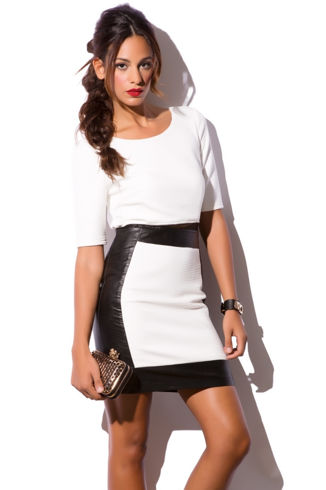 Mesh midriff cut out dress