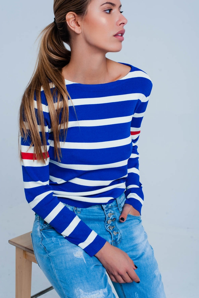 Breton block stripe sweater