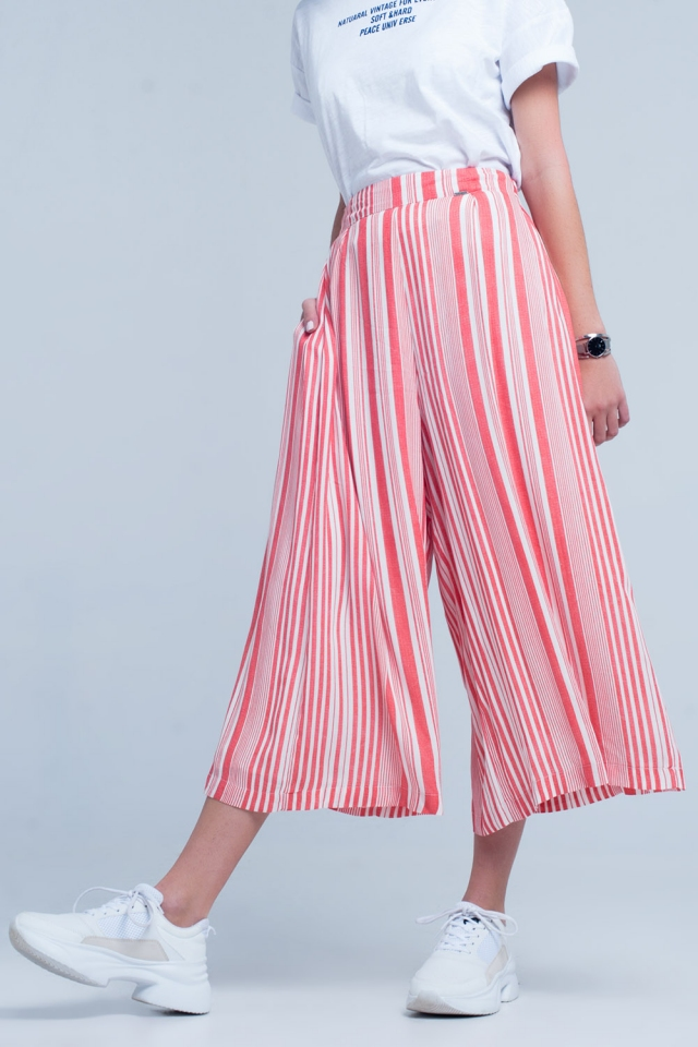 Culottes in Orange stripe