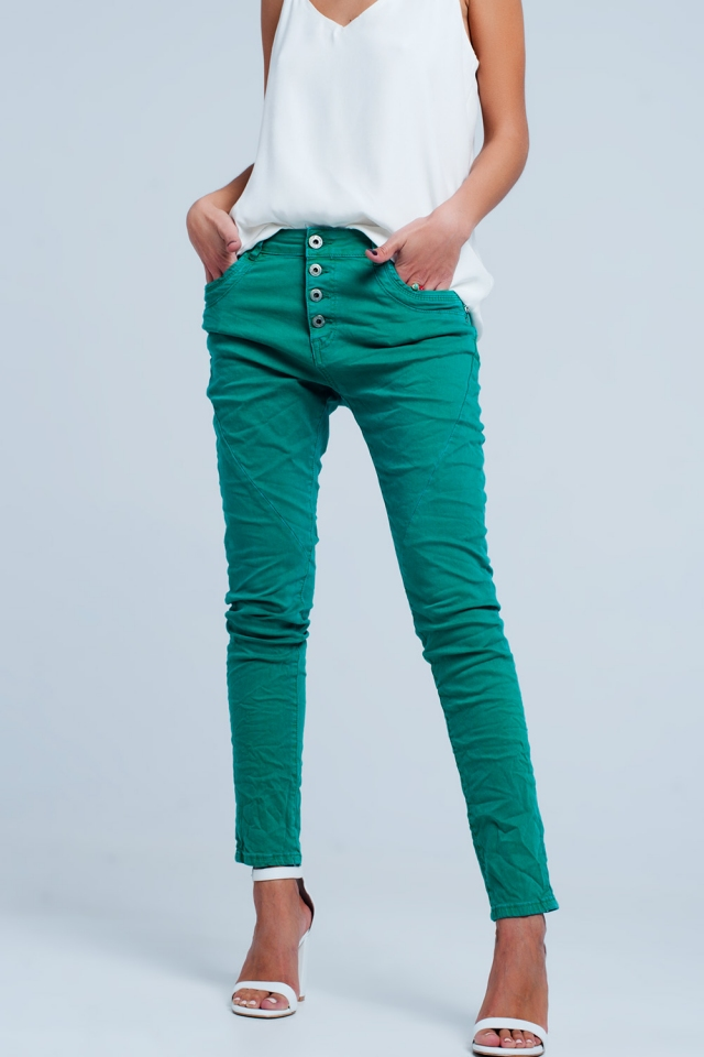 Original boyfriend jeans in green