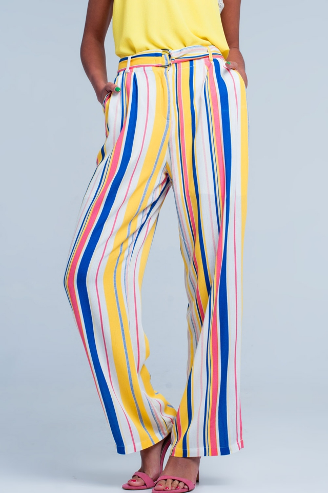 Loose striped pants