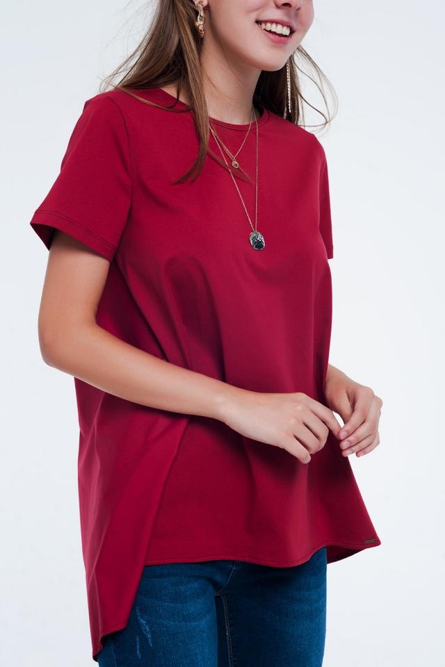 T-shirt dress in Maroon
