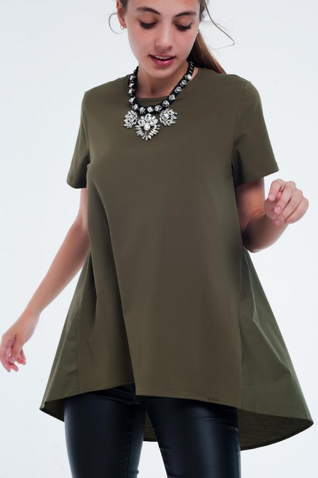 T-shirt dress in khaki