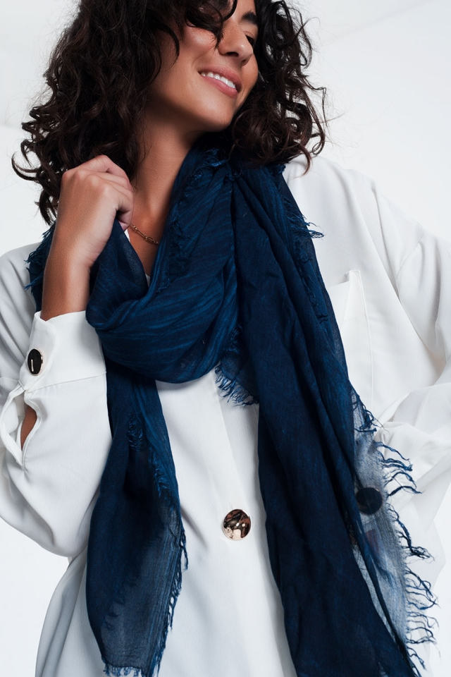 Navy vintage wash scarf