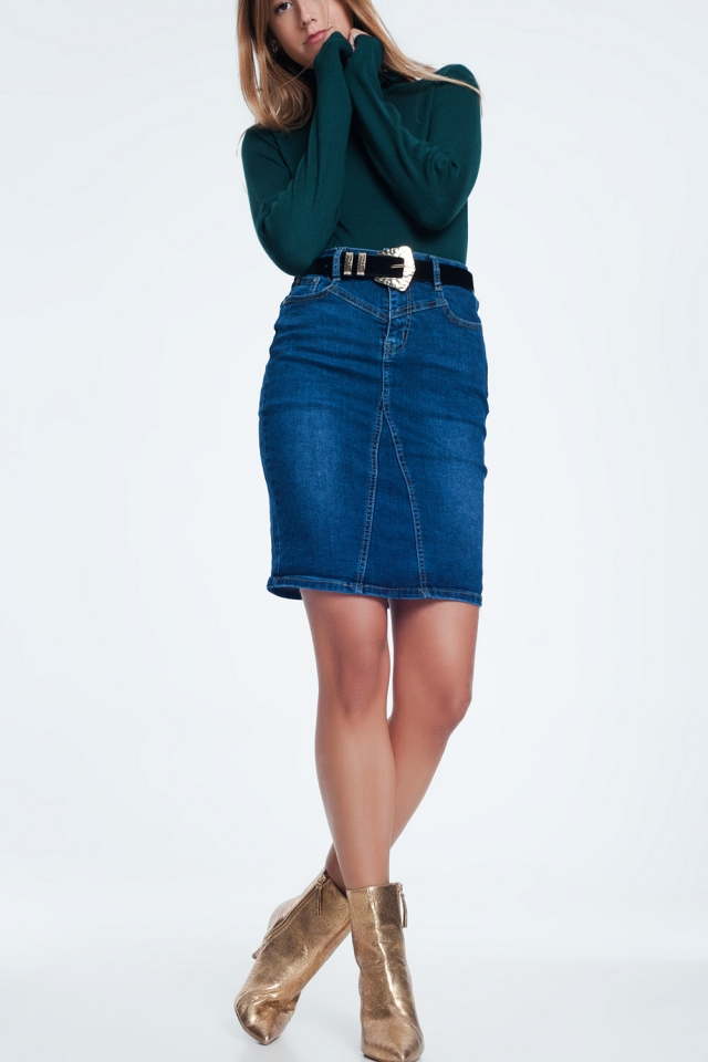 Mini skirt made of denim