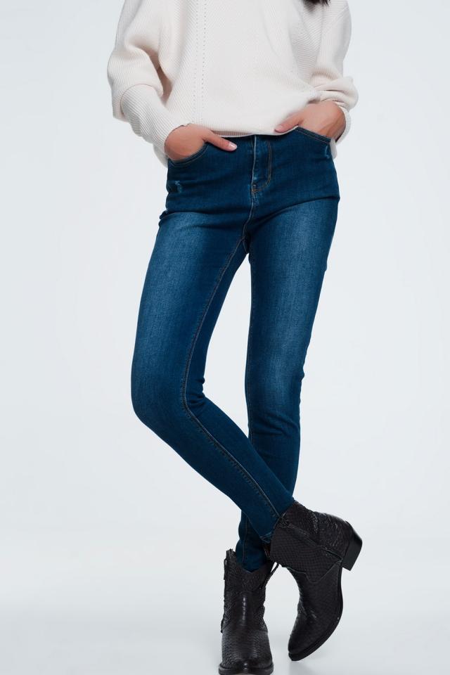 Basic blue jeans in a dark wash