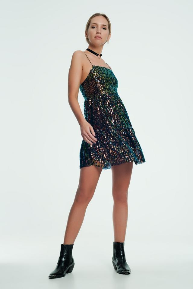 Maroon mini dress with glitter