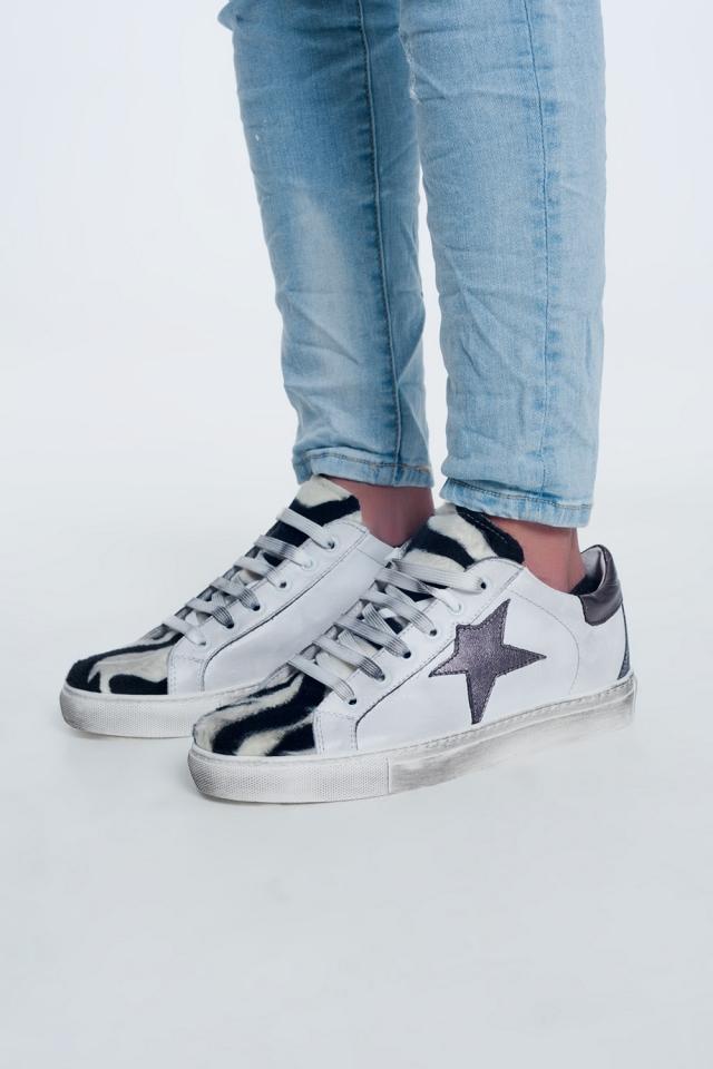 Sneakers in zebra mix