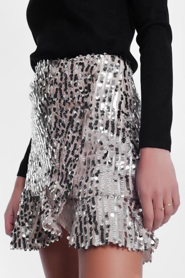 shiny gold skirt