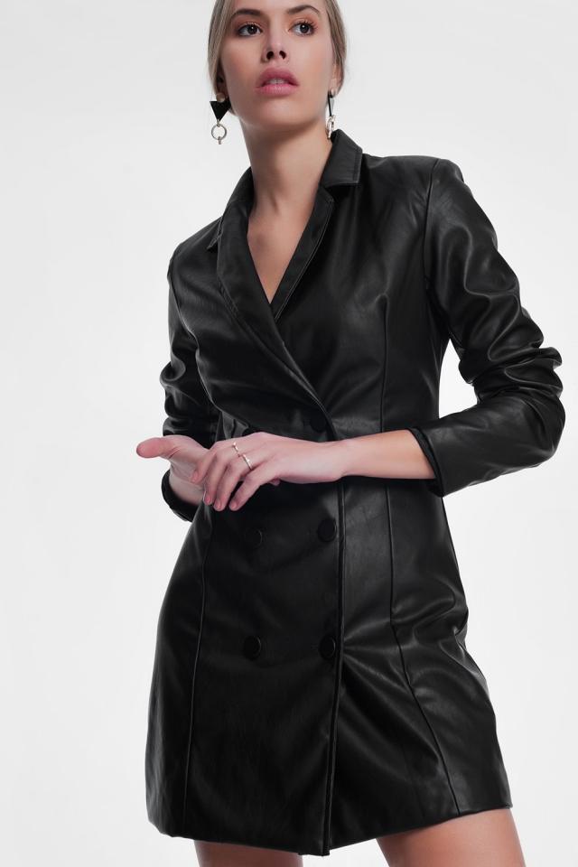 Black trenchcoat dress