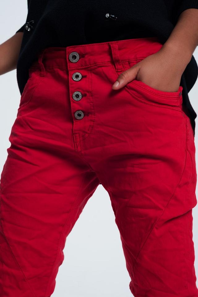 Original boyfriend jeans in red