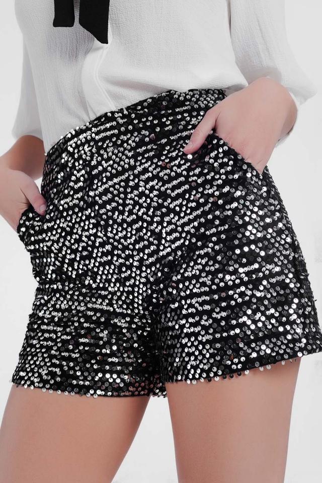Silver shiny shorts