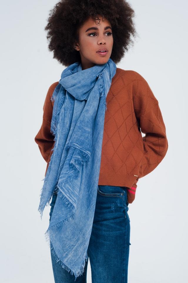 Blue vintage wash scarf