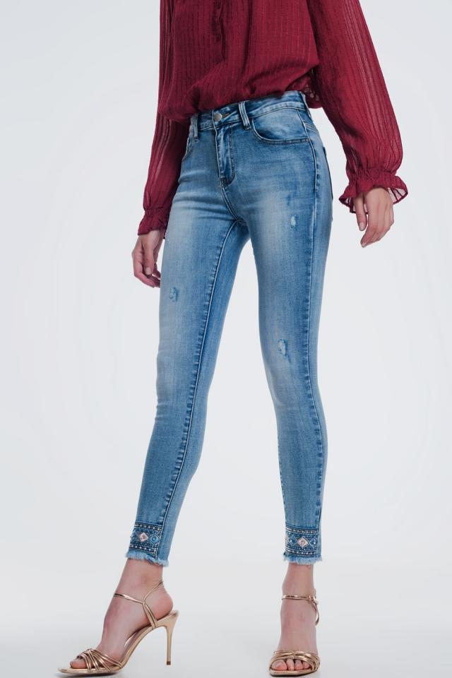 super skinny light denim jeans