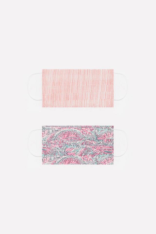 2 PACK organic cotton printed pink Mask