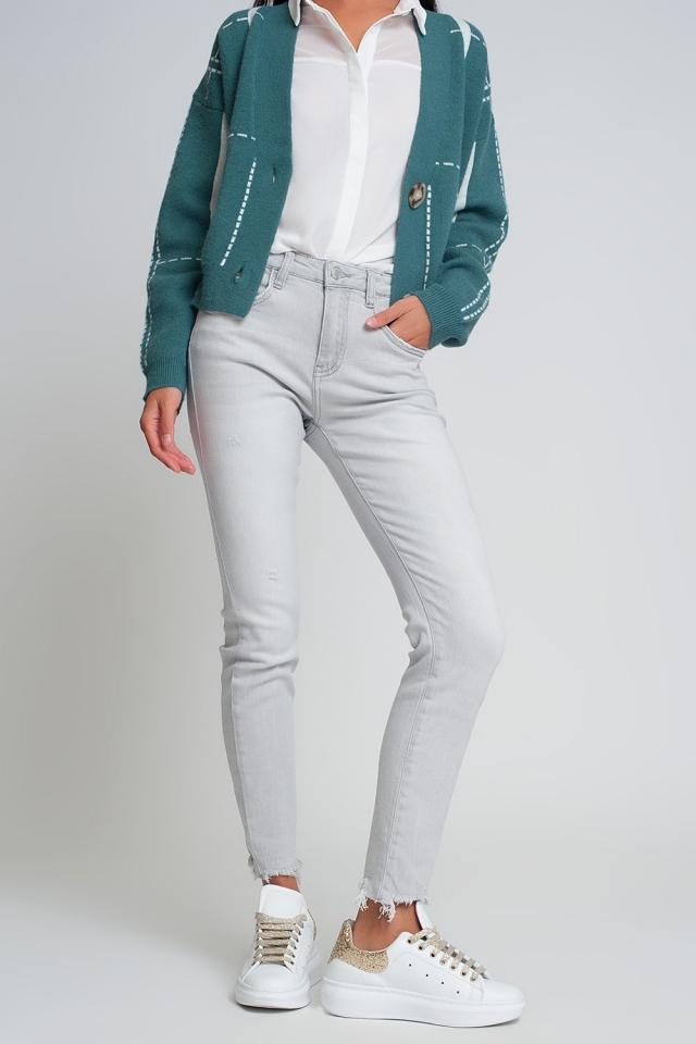 super skinny jeans in gray