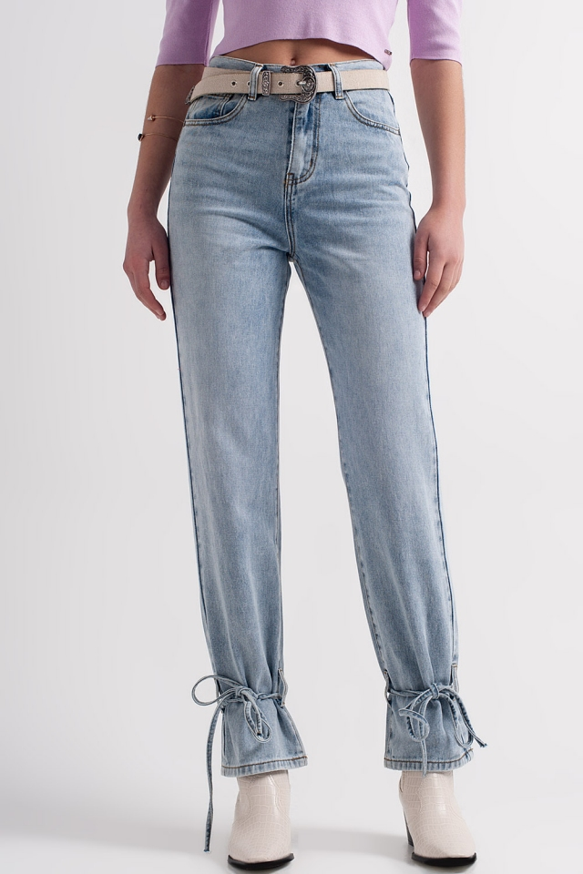 jeans with drawstring