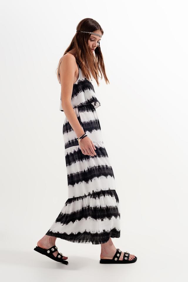 Beach dress in black tie dye