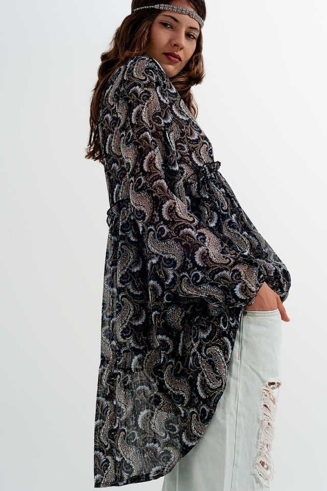 Chiffon swing dress in print
