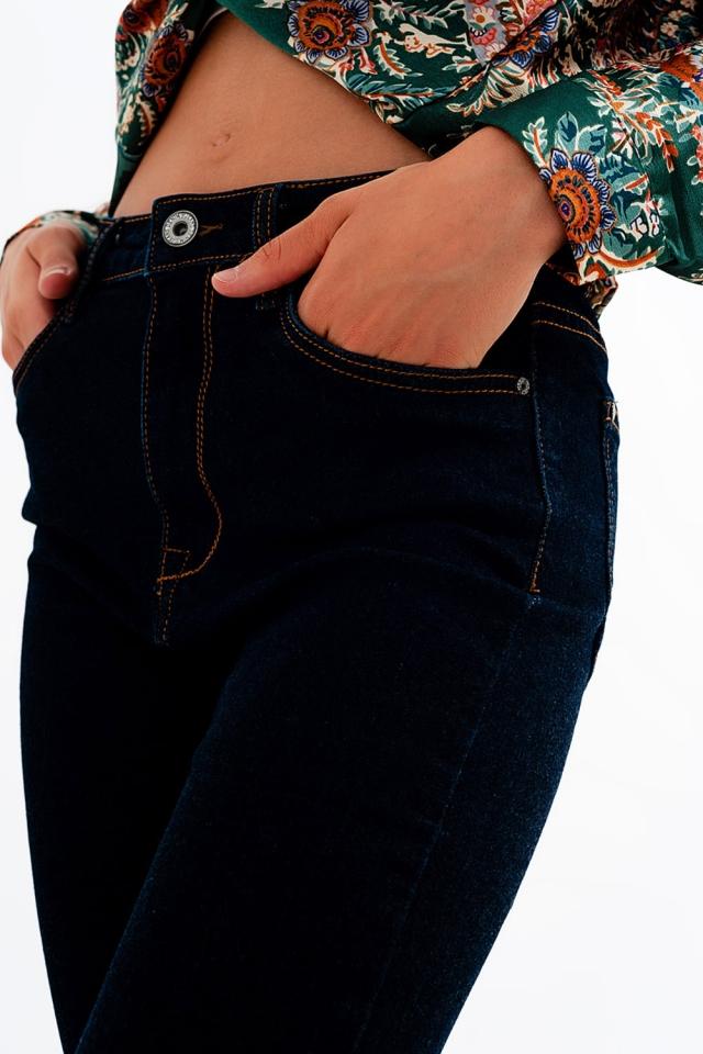 Slim fit jeans in dark blue wash