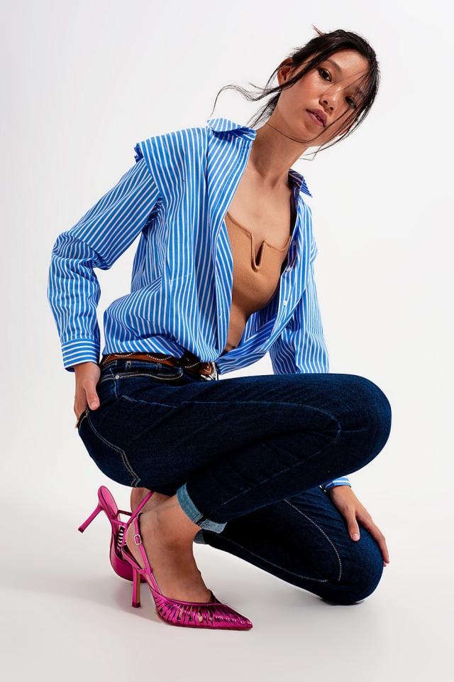 Skinny fit jeans dark blue wash